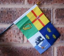 HAND WAVING FLAG (SMALL) - Ireland 4 Provinces